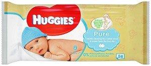 Huggies Бебешки мокри кърпички Pure 56 бр.